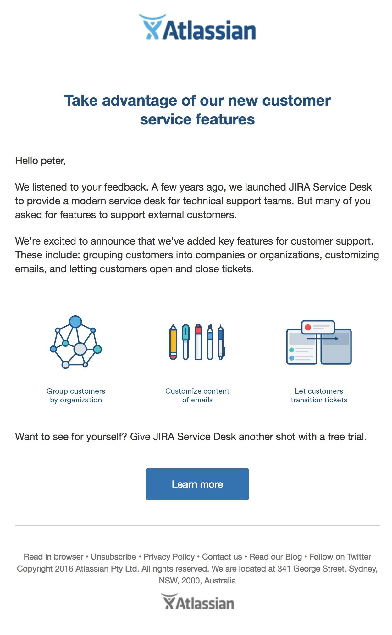 Atlassian tells users how it's serving them