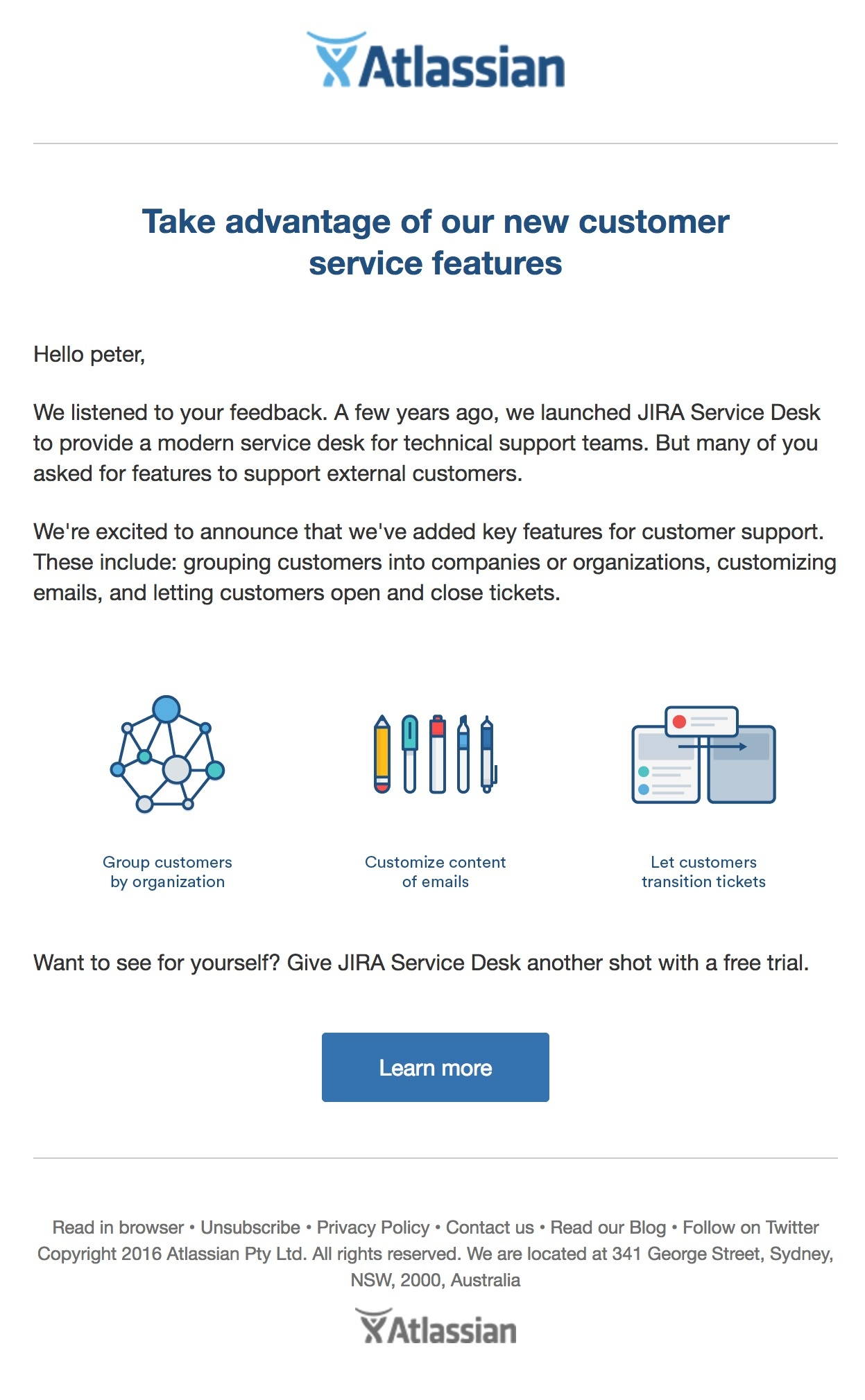 Atlassian tells users how it's serving them