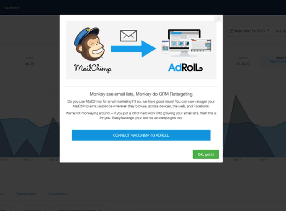 AdRoll Appcues modal