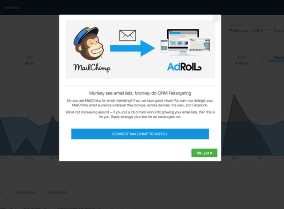 AdRoll Appcues modal