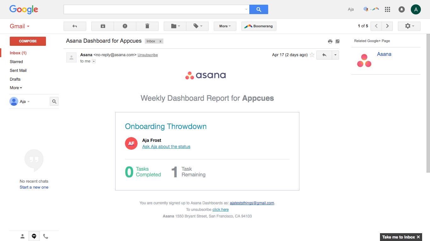 Asana email 3