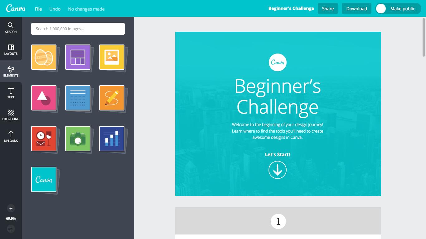 Canva beginners challenge user onboarding