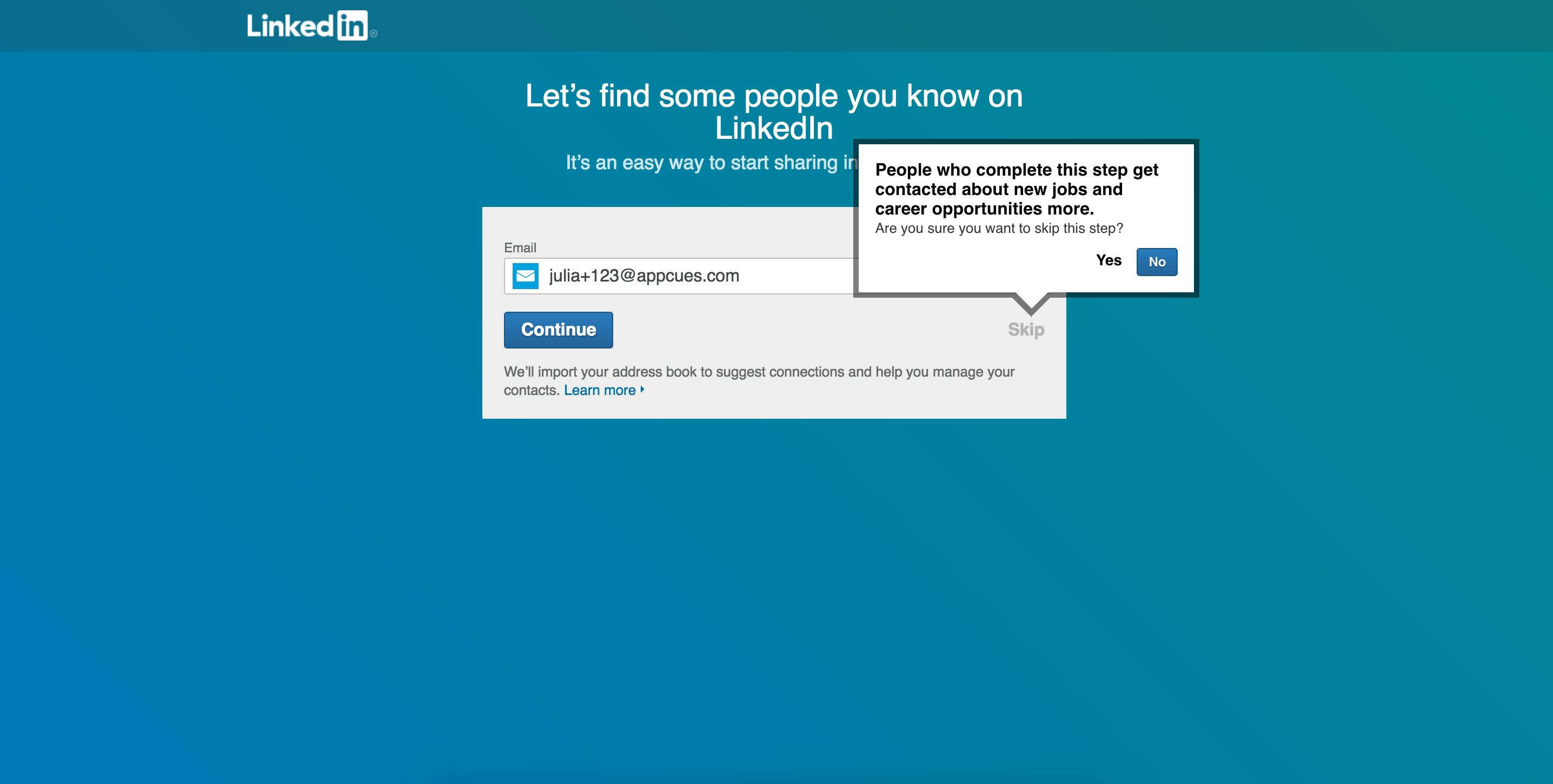LinkedIn invite onboarding