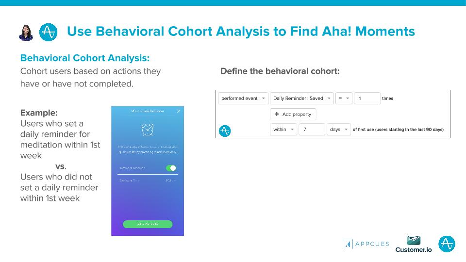 Use Behavioral Cohort Analysis to Find Aha Moments