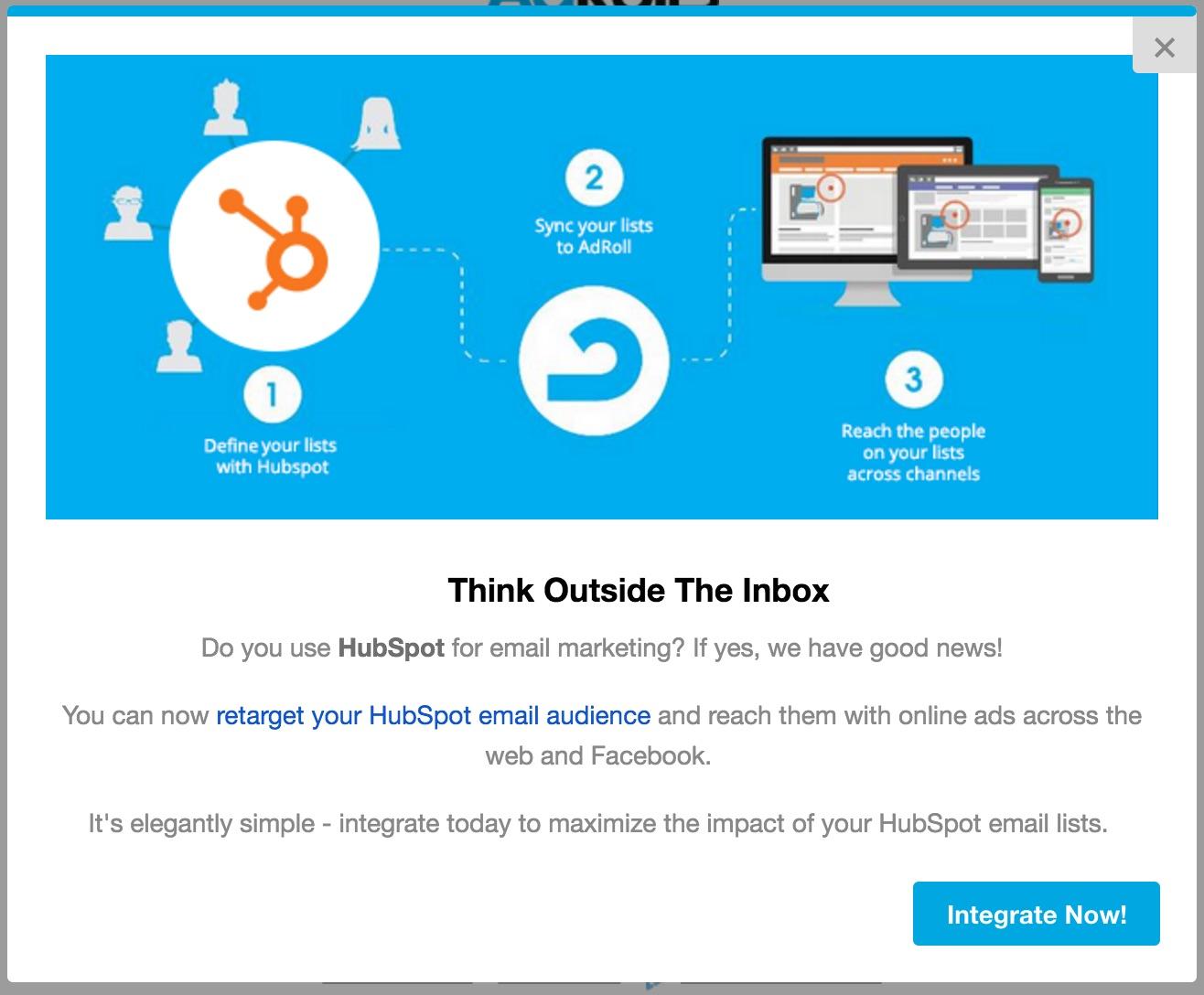 AdRoll HubSpot integration