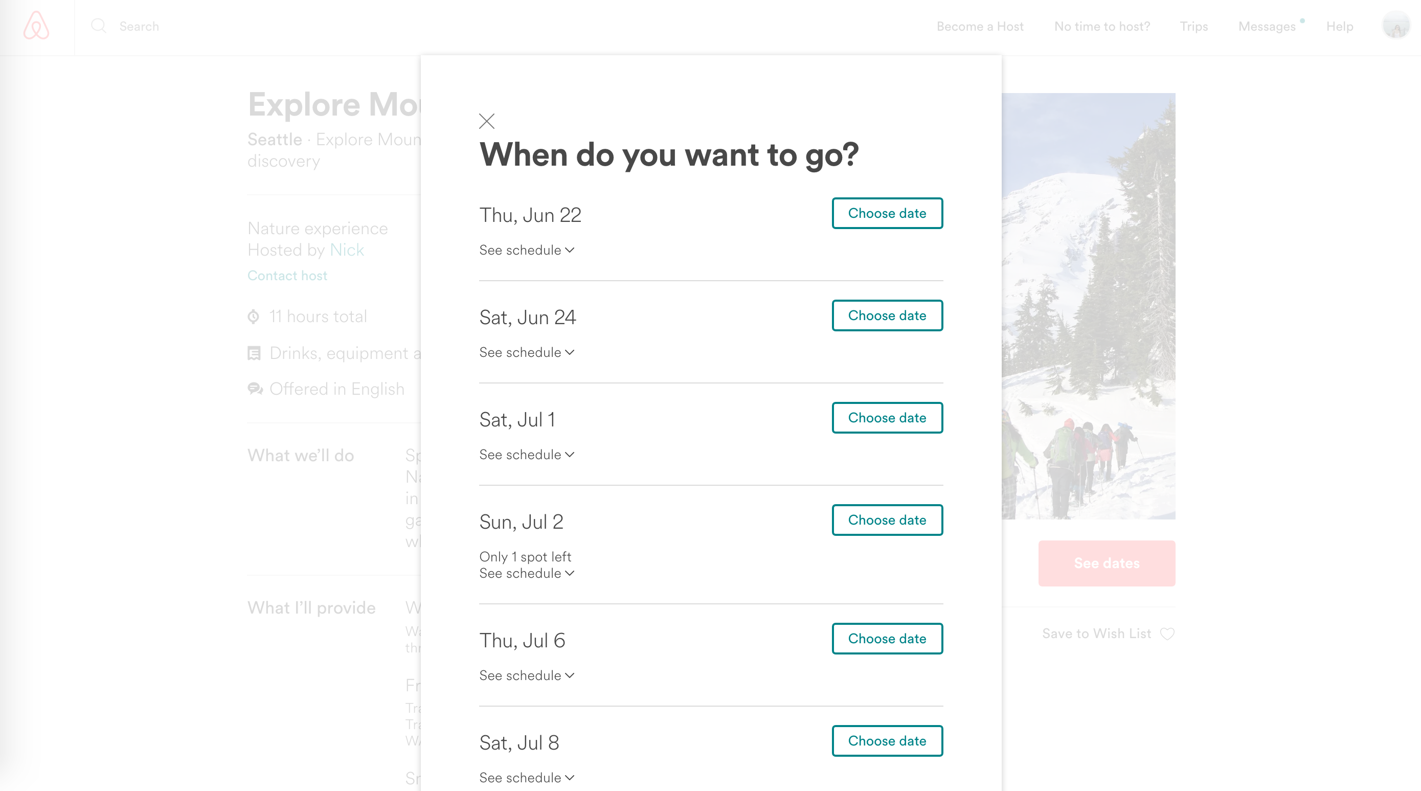 airbnb modal