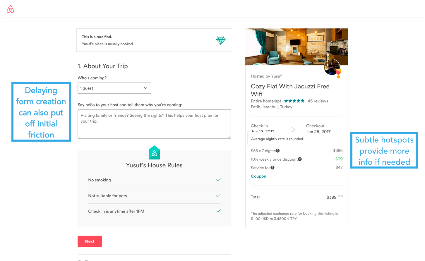 airbnb purchase details