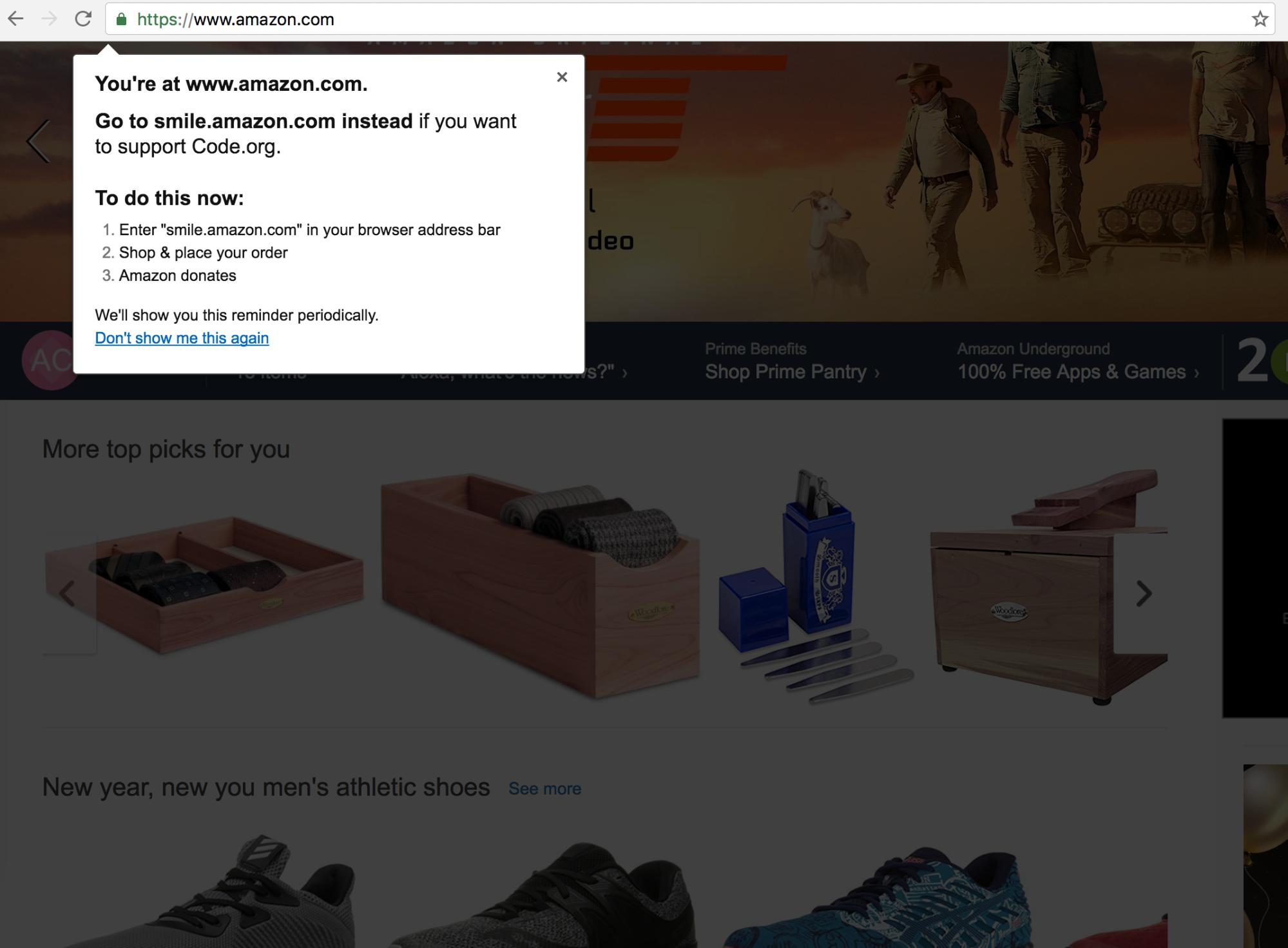 amazon tooltip