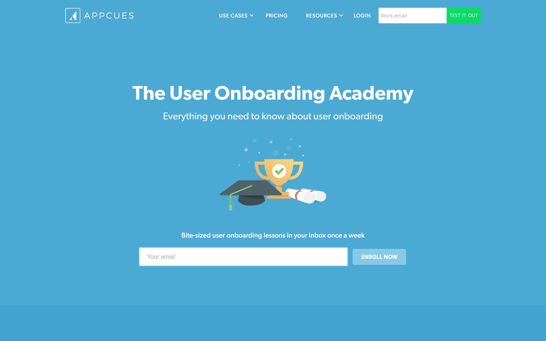 appcues user onboarding academy