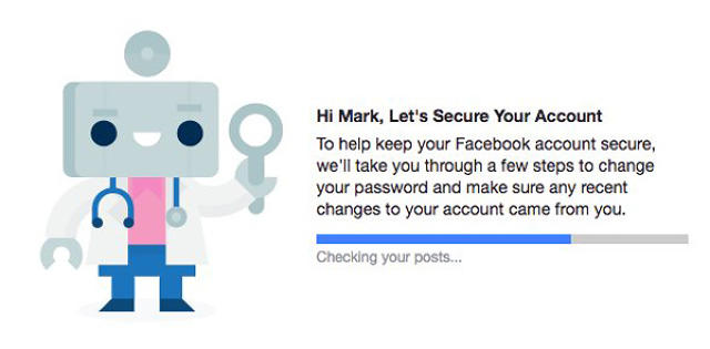 facebook security loading page