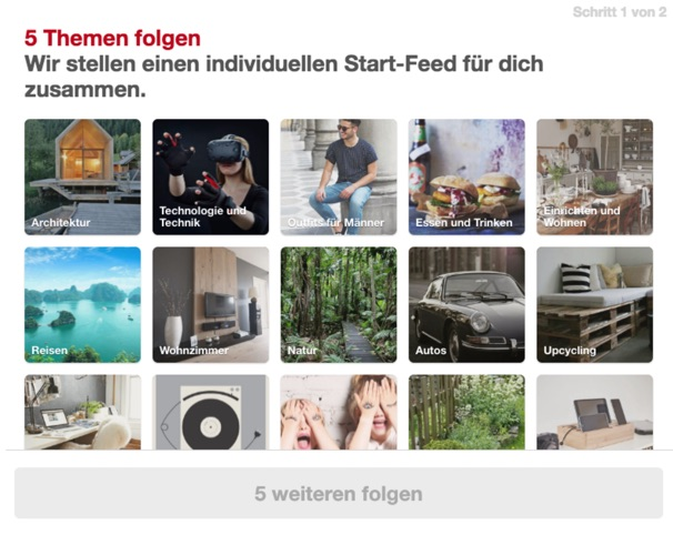unpersonalized home feed for Germans