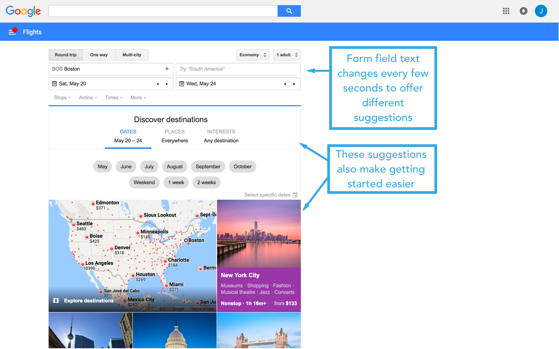 google flights homepage 3-1 search