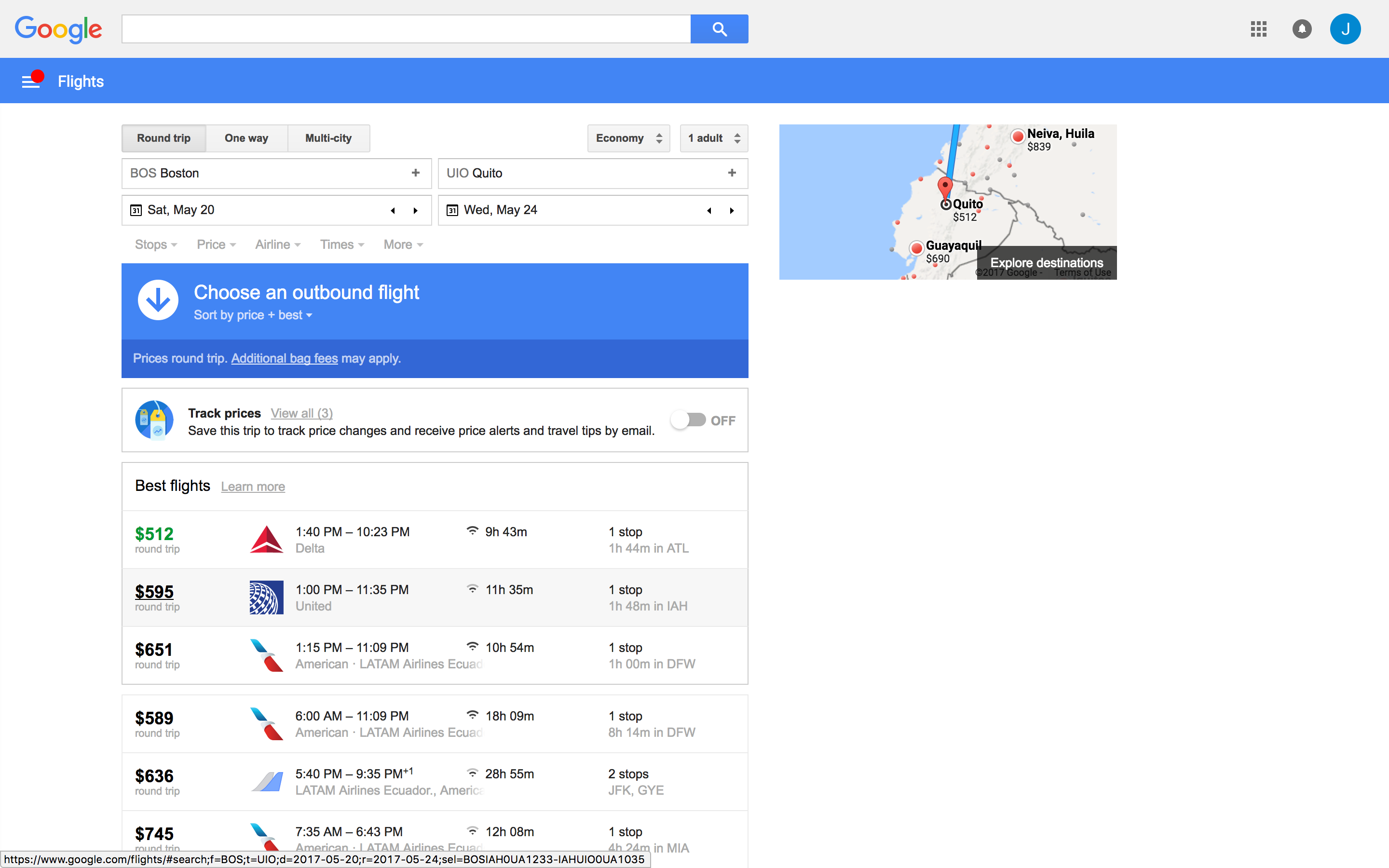google flights search results 6