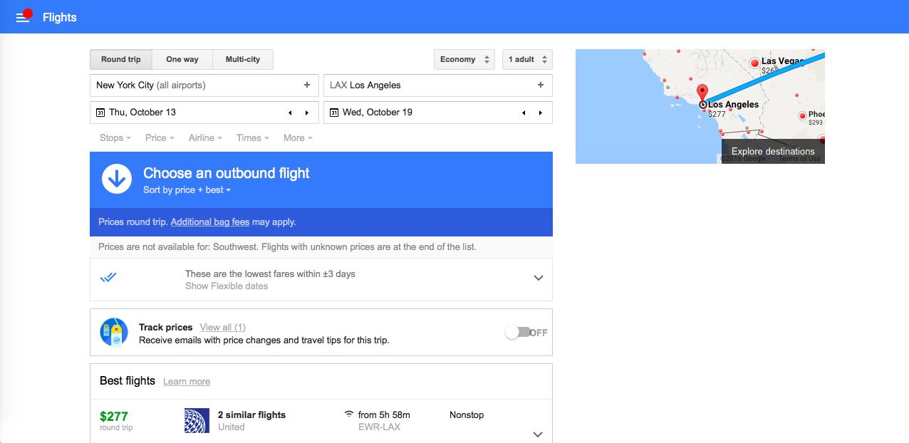 google flights hotspot