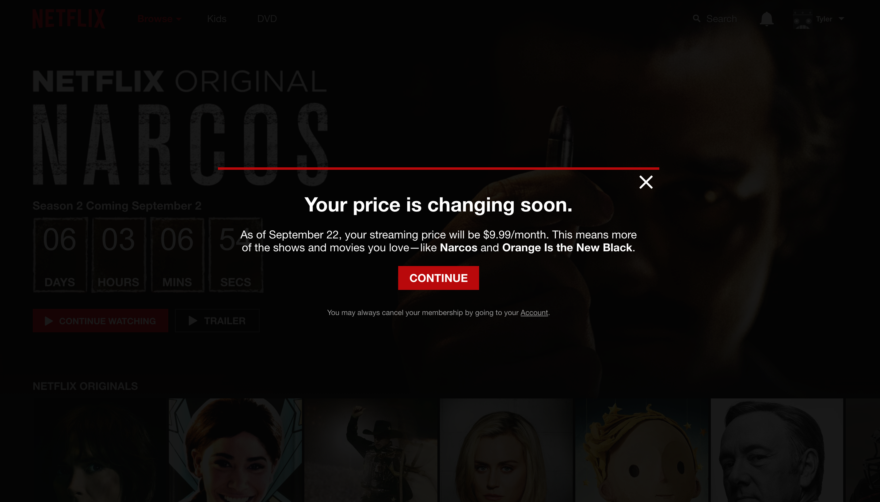Netflix pricing fullscreen