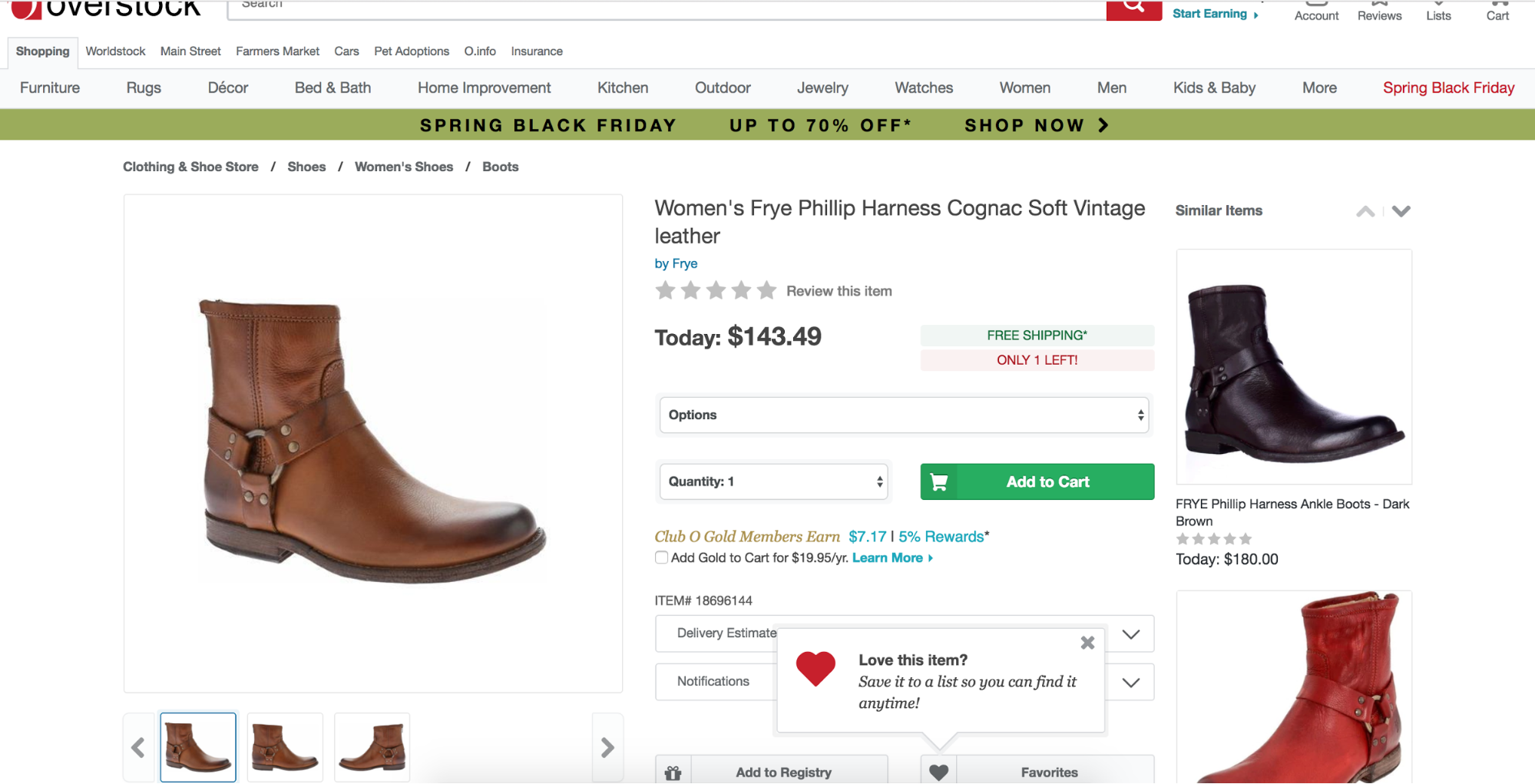 overstock shopping tooltip