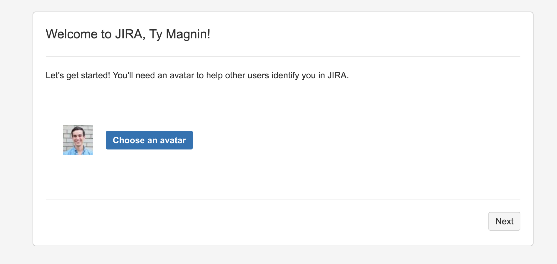 personalized user onboarding jira profile