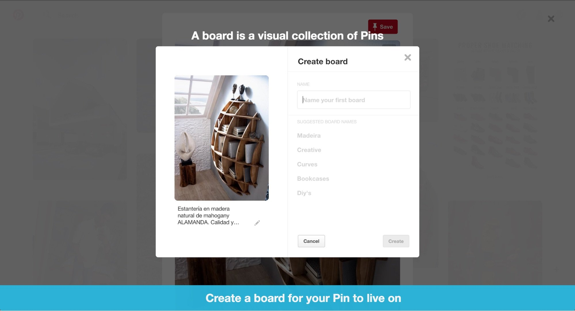 Pinterest's product tour