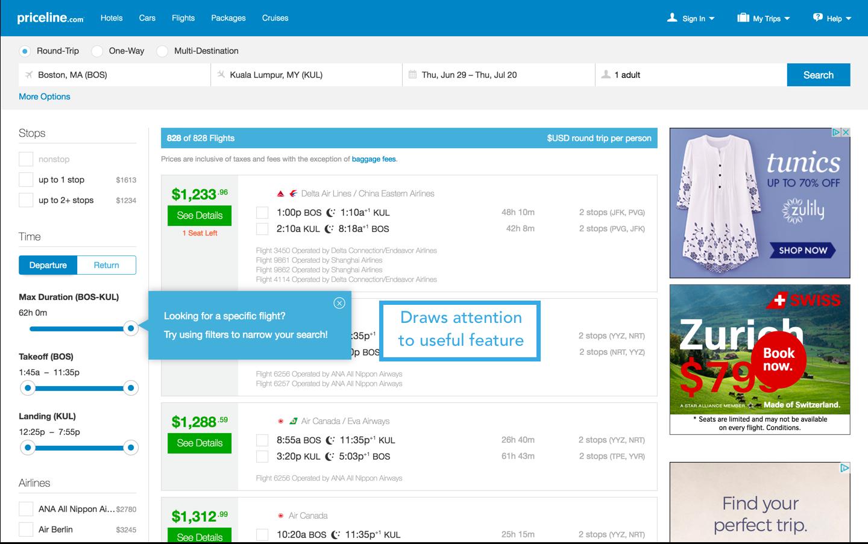 priceline filter tooltip