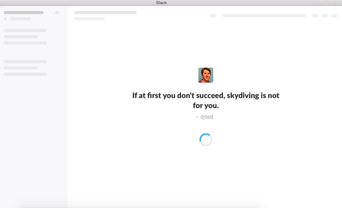 slack loading page