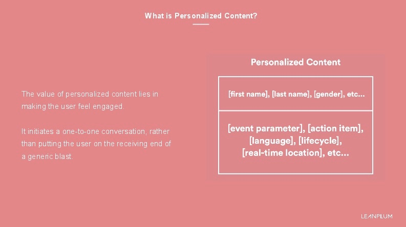 What is personalized content?