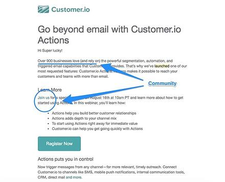 The 20 best product launch emails that reengage users customers email focuses on building community stopboris Image collections