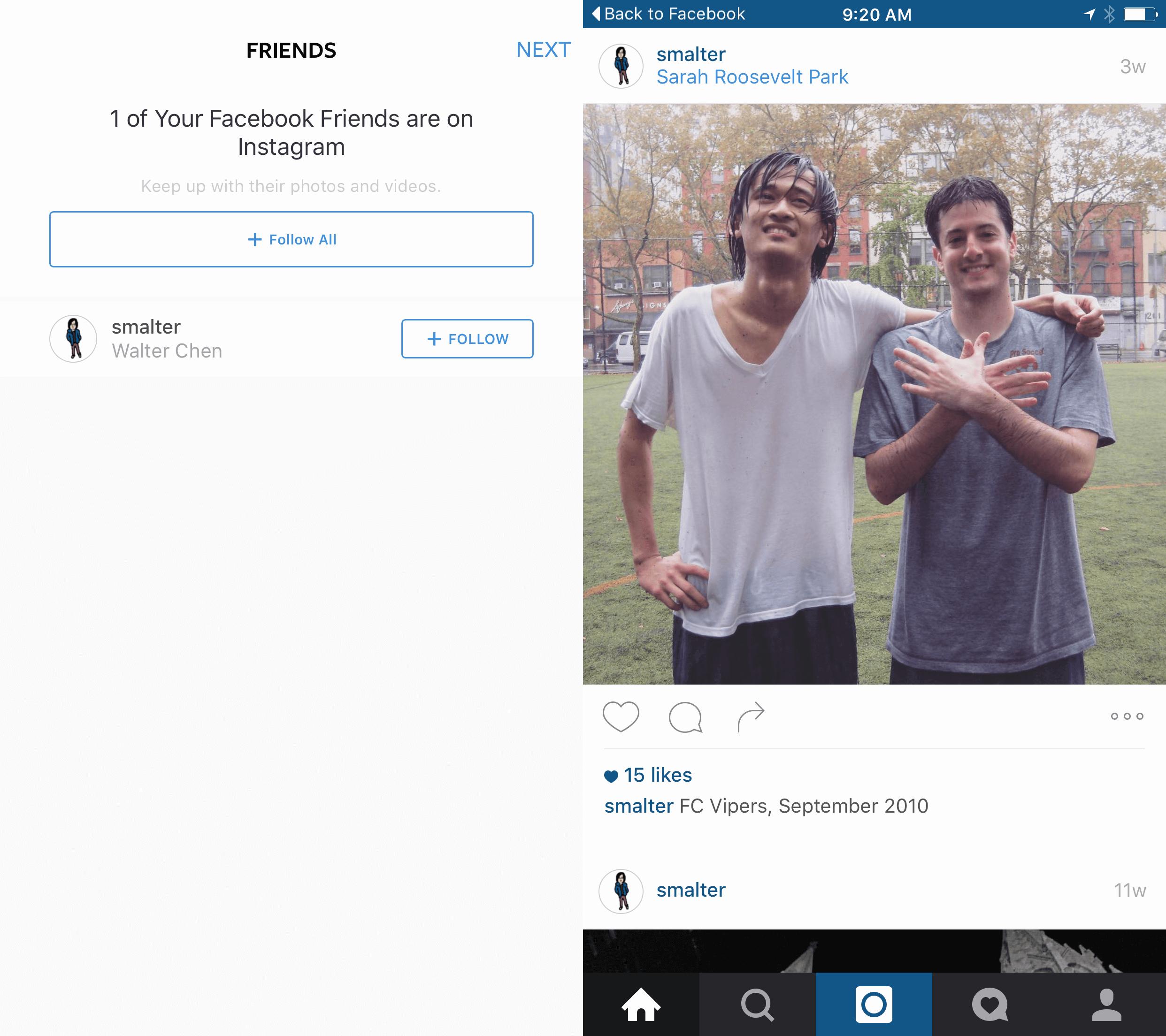 Instagram social logins