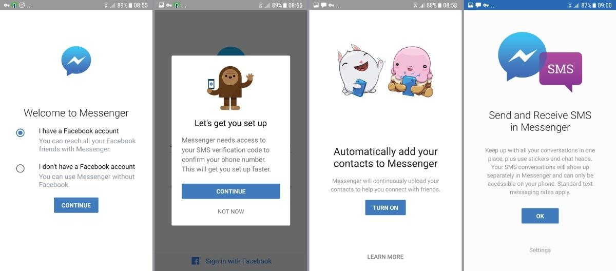 Facebook Messenger Onboarding