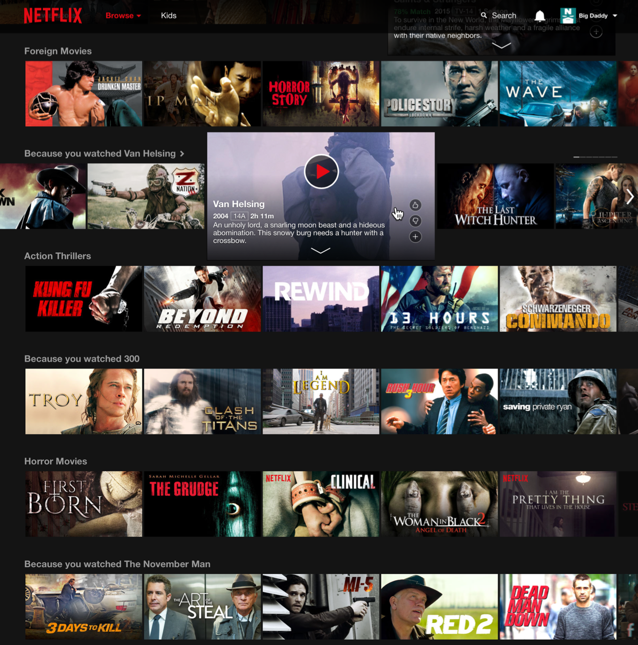 Netflix personalized recommendations