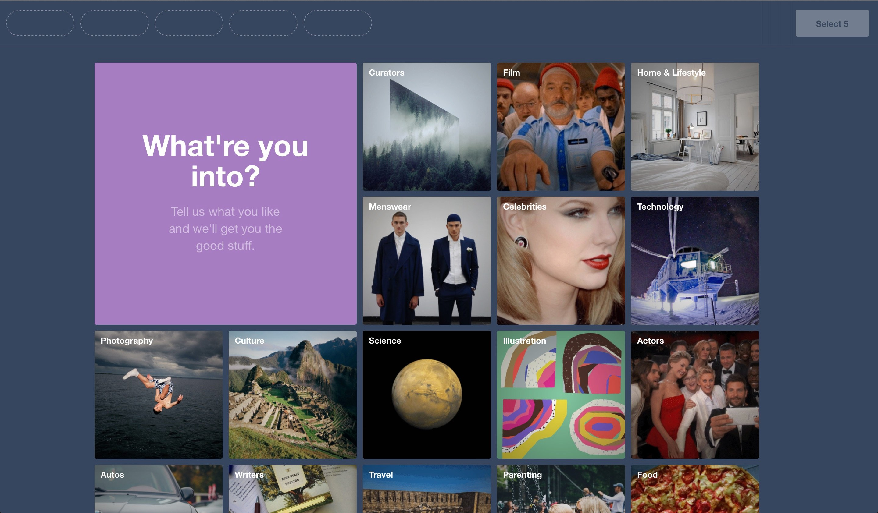 Tumblr helps users log their preferences with images