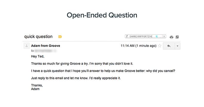 lower churn through open questions