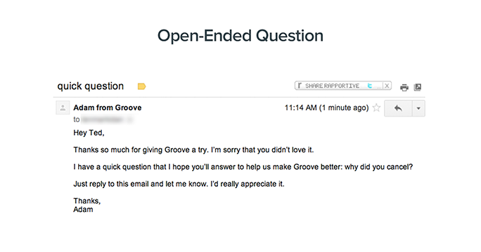 lower churn through open questions