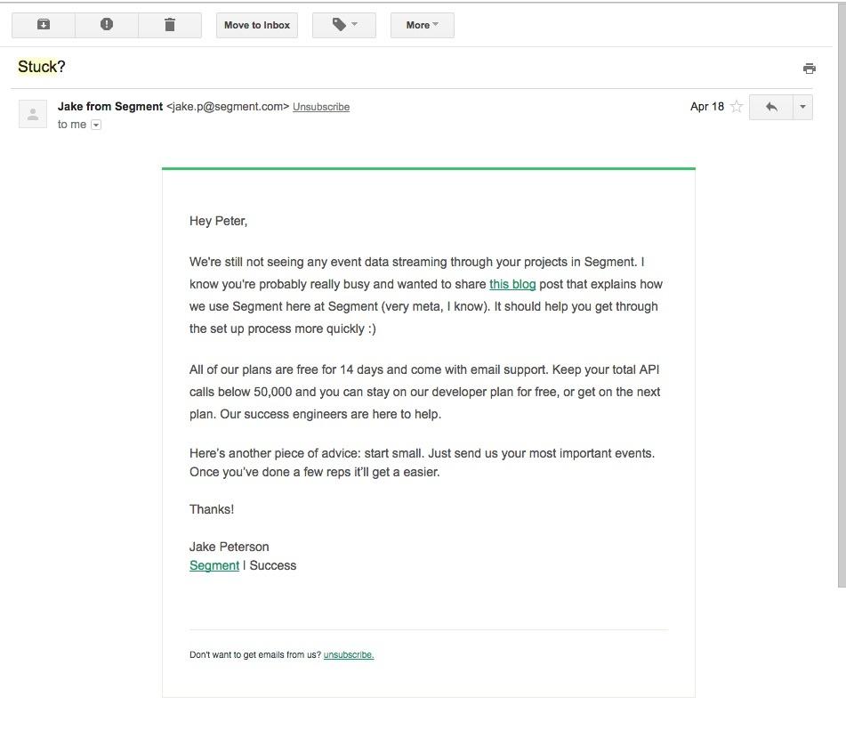 segment retention email