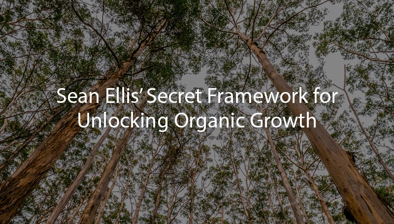 Sean Ellis' Secret Framework for Unlocking Organic Growth
