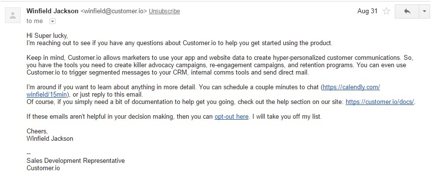 user retention customer.io