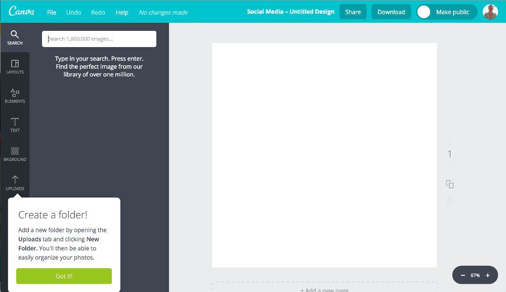 Canva tooltip