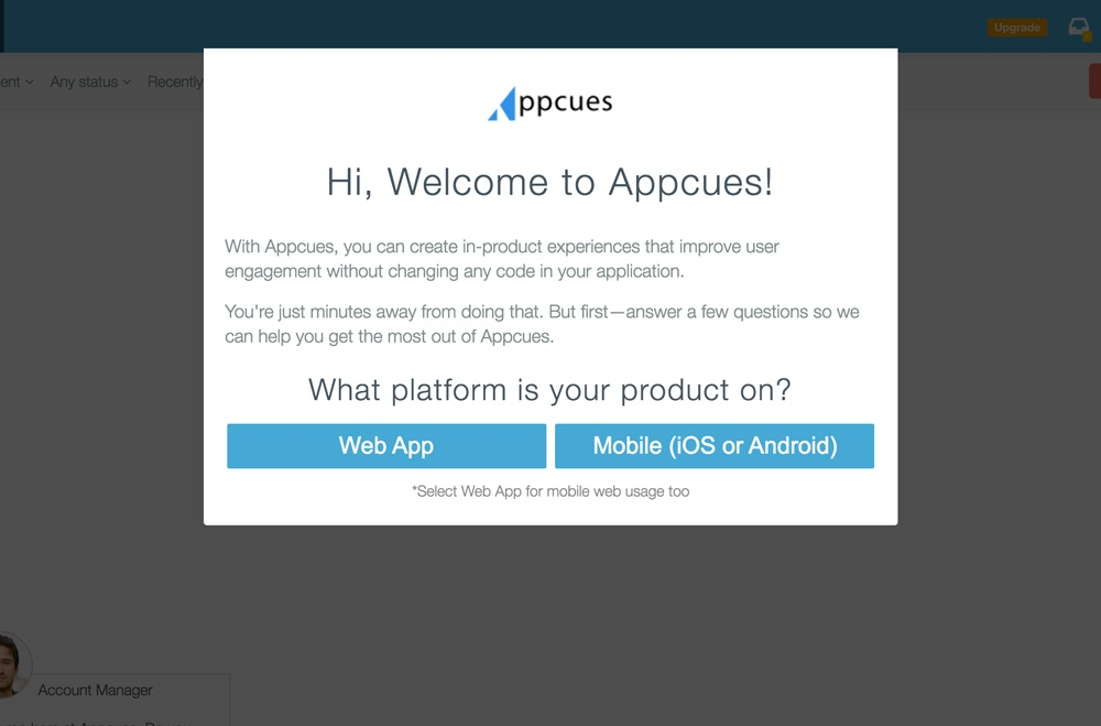 Appcues user onboarding 1